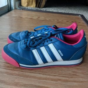 Adidas Orion sz 7 blue hot pink sneakers casual
